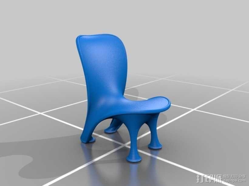 泡泡透明椅模型 3D模型  图6