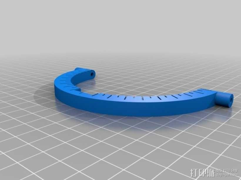 弓弦形赤道日晷仪  3D模型  图2