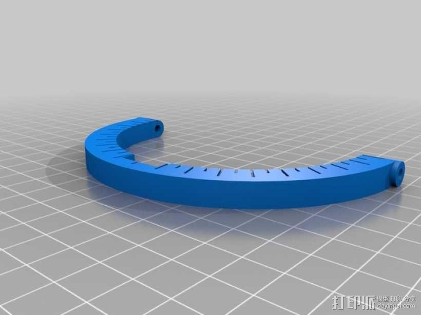 弓弦形赤道日晷仪  3D模型  图6
