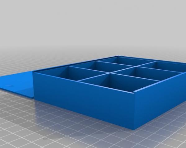参数化隔断盒模型 3D模型  图1