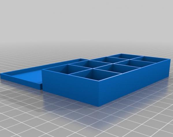 参数化隔断盒模型 3D模型  图3