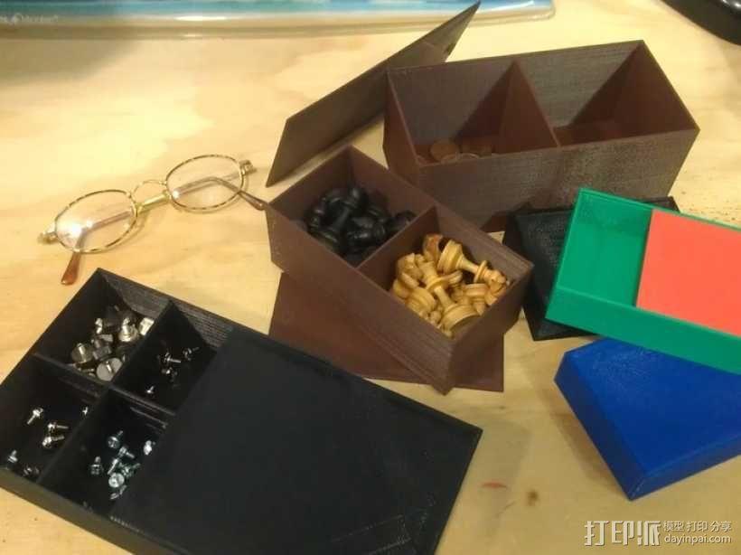 参数化隔断盒模型 3D模型  图2