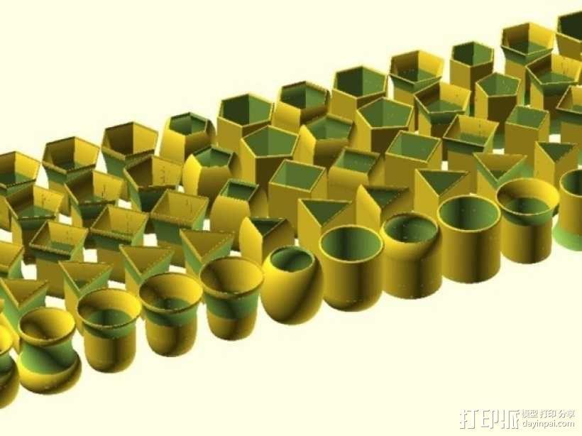 常见几何容器模型 3D模型  图28