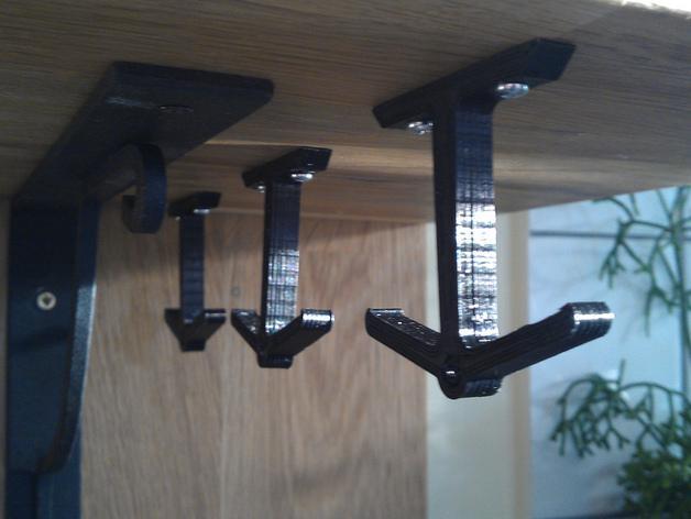 放置厨房用具吊钩模型 3D模型  图1