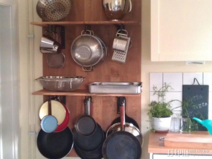 放置厨房用具吊钩模型 3D模型  图4
