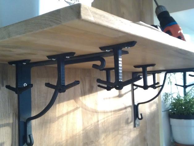 放置厨房用具吊钩模型 3D模型  图5