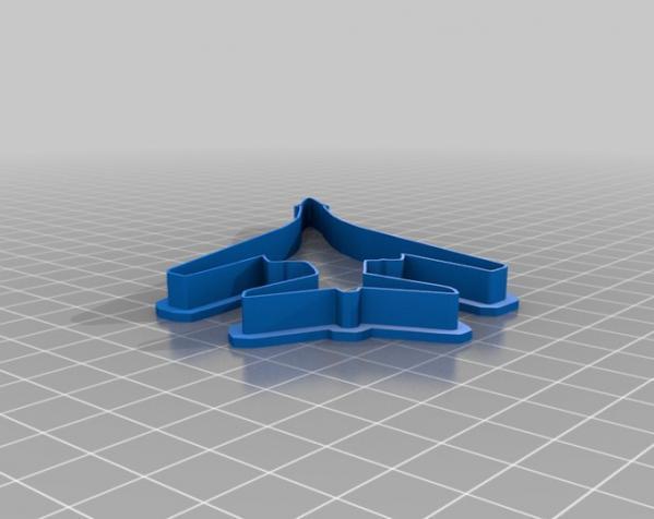 飞机形饼干切割刀模型 3D模型  图6