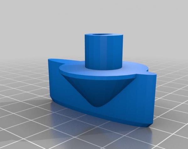 参数化洗衣机旋钮模型 3D模型  图1