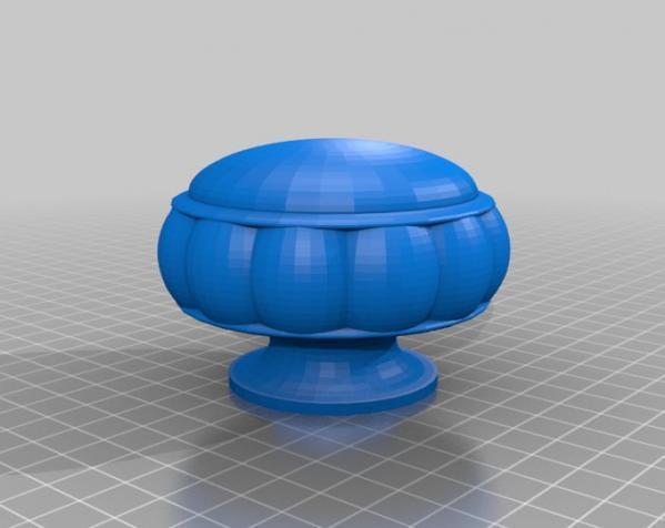 窗帘杆末端套头模型 3D模型  图1