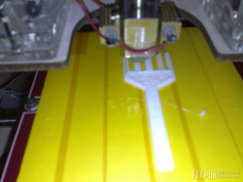 迷你餐叉模型 3D模型  图3