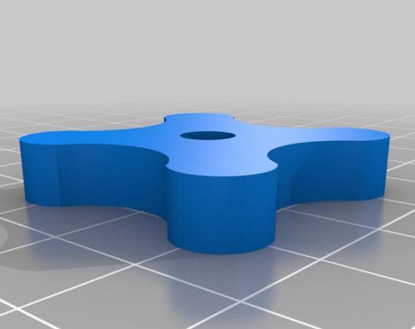 参数化翼形螺帽模型 3D模型  图2