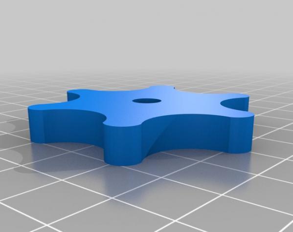 参数化翼形螺帽模型 3D模型  图3