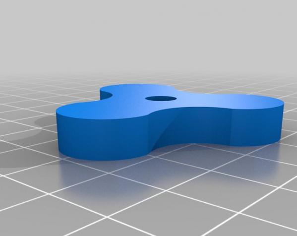 参数化翼形螺帽模型 3D模型  图4