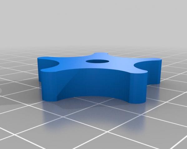 参数化翼形螺帽模型 3D模型  图5