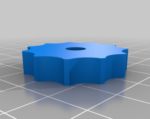 参数化翼形螺帽模型 3D模型  图6