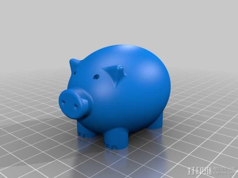 小猪形盐瓶/胡椒瓶 3D模型  图1