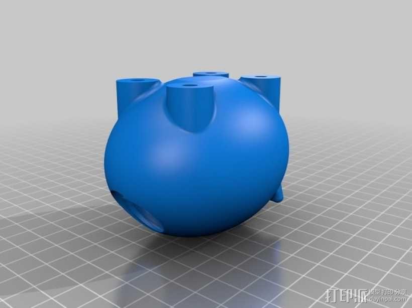 小猪形盐瓶/胡椒瓶 3D模型  图7