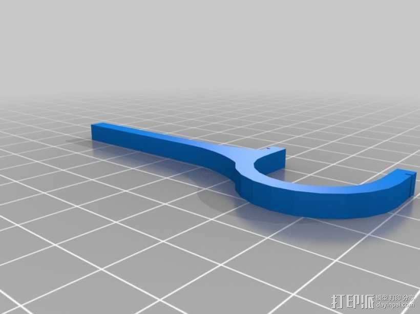 牙线架/牙线清洁弓v1 3D模型  图2