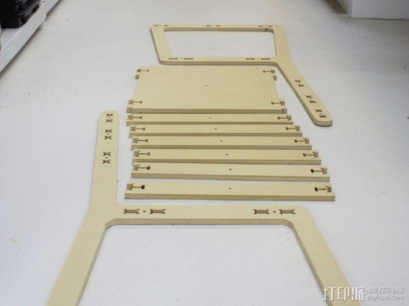 简易椅子模型 3D模型  图2