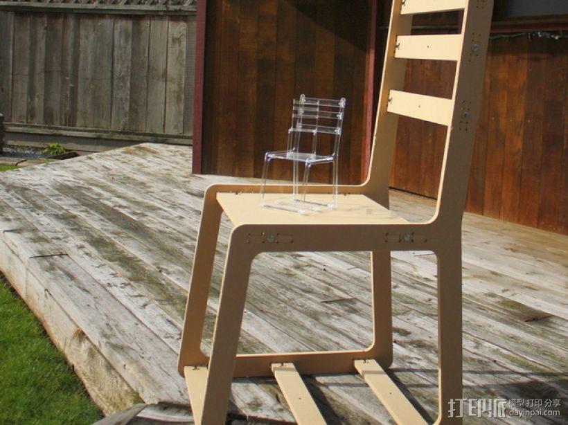 简易椅子模型 3D模型  图1