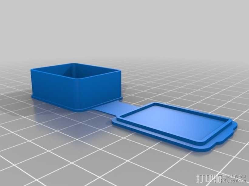 长方形可定制化盒子 3D模型  图5