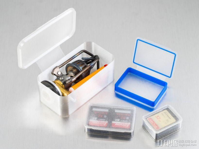 长方形可定制化盒子 3D模型  图1
