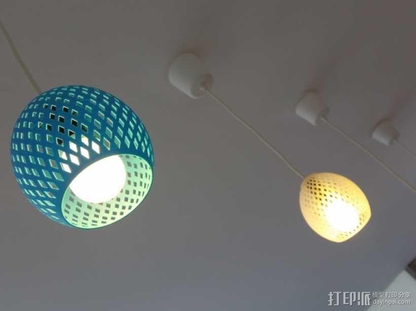 经典圆形灯罩模型 3D模型  图1