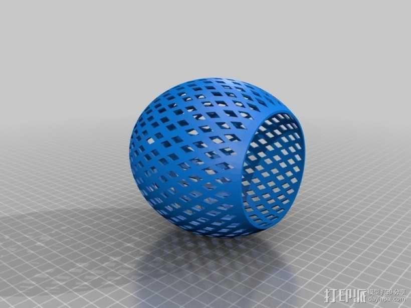 经典圆形灯罩模型 3D模型  图3