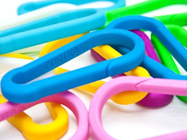 竖钩夹模型 3D模型  图1