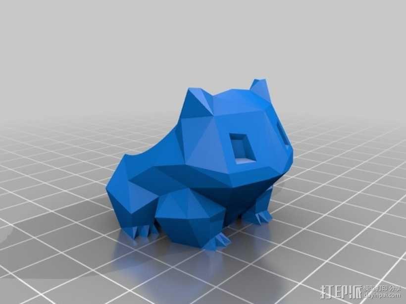妙蛙种子花盆模型 3D模型  图4