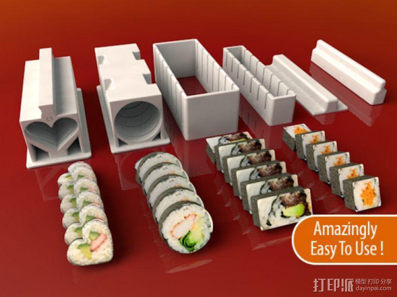 寿司模型套件 3D模型  图1
