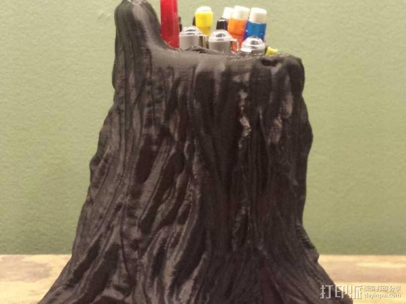 树桩笔筒模型 3D模型  图2