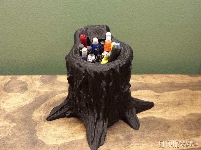 树桩笔筒模型 3D模型  图1
