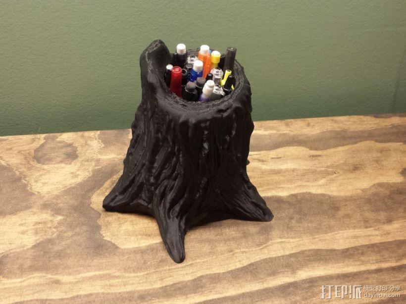树桩笔筒模型 3D模型  图5