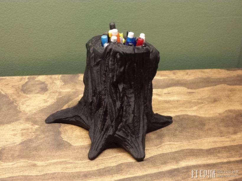 树桩笔筒模型 3D模型  图6