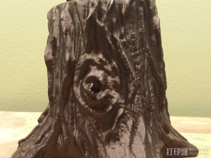 树桩笔筒模型 3D模型  图7