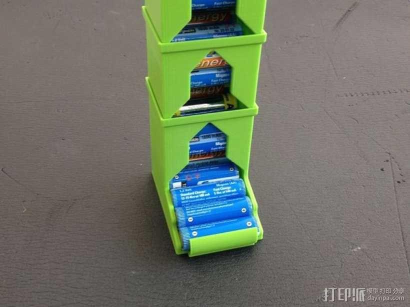 可伸展的电池盒模型 3D模型  图1