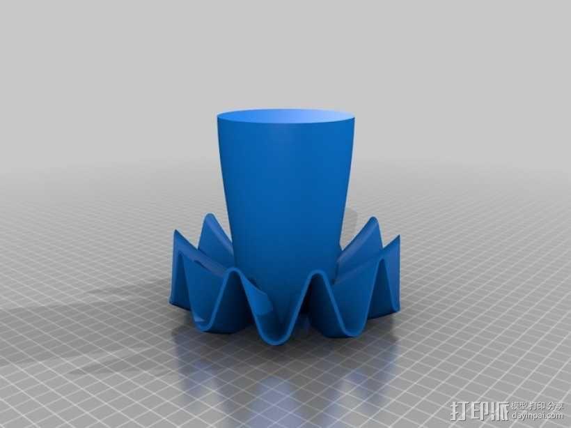 十面液体分发器模型 3D模型  图2