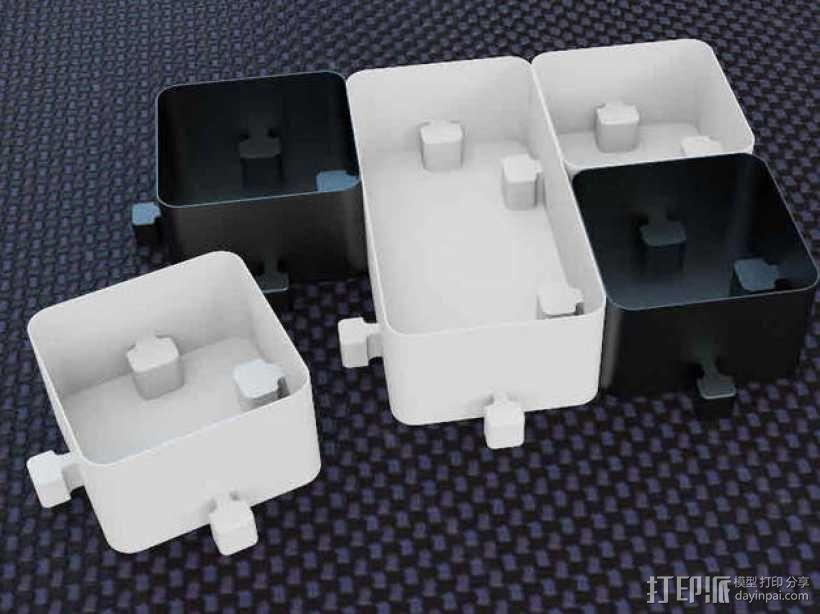 迷你联锁盒子模型 3D模型  图2