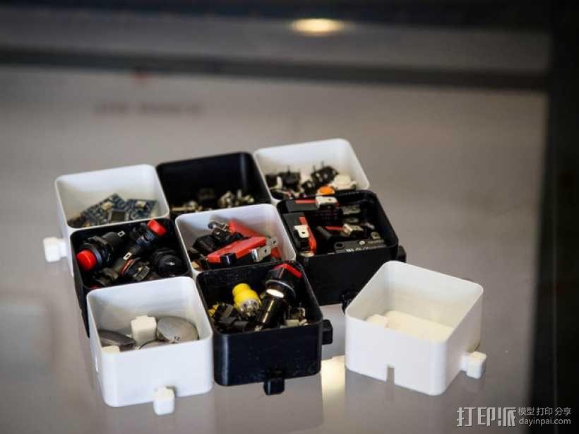 迷你联锁盒子模型 3D模型  图1