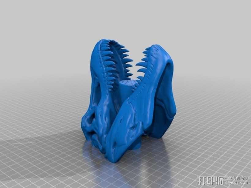 恐龙形淋浴喷头模型 3D模型  图2