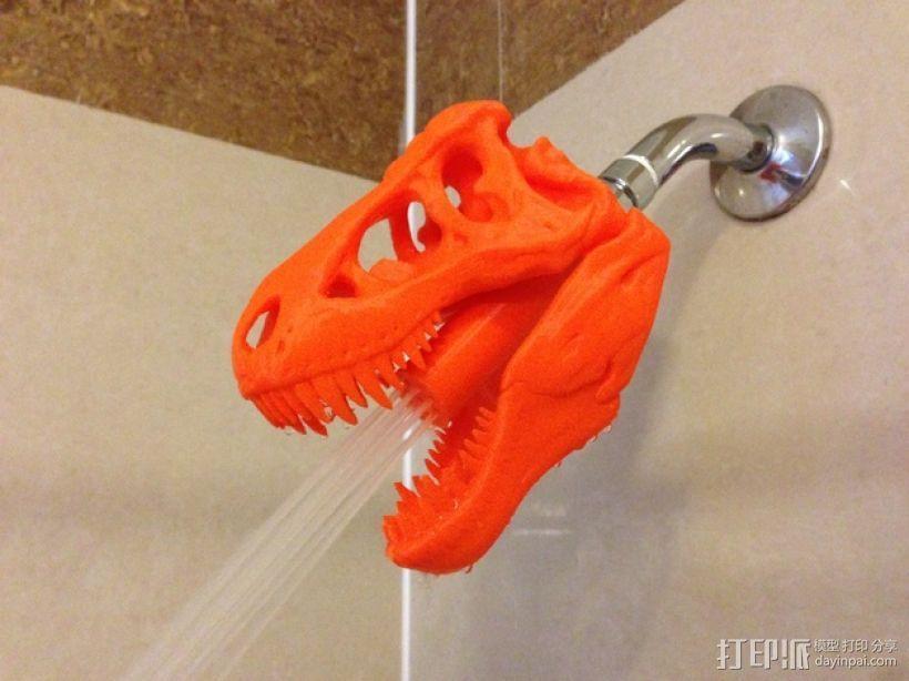 恐龙形淋浴喷头模型 3D模型  图1