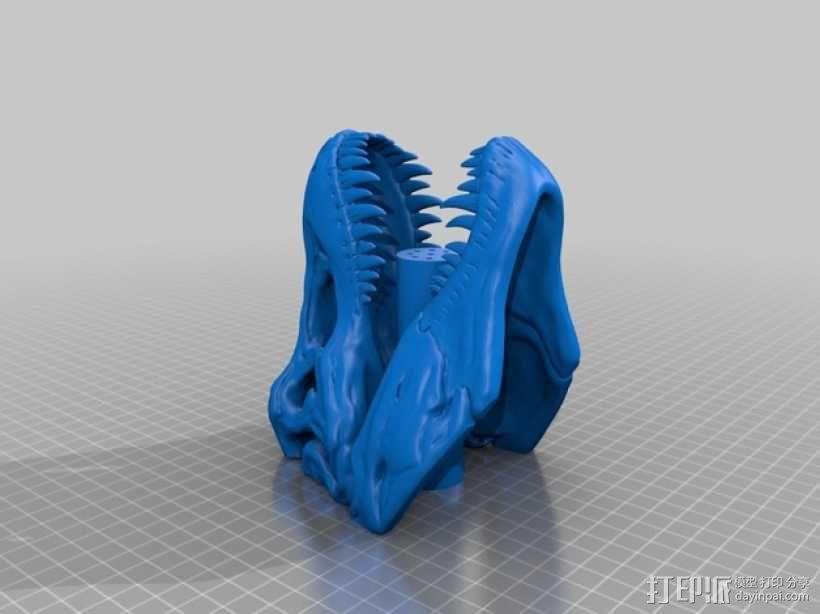恐龙形淋浴喷头模型 3D模型  图3