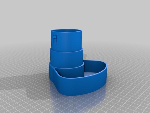 办公用品收纳盒模型 3D模型  图2