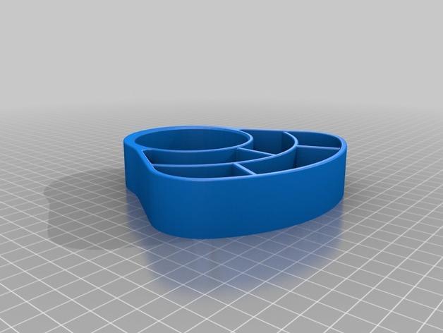 办公用品收纳盒模型 3D模型  图4