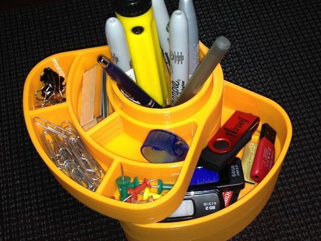 办公用品收纳盒模型 3D模型  图5