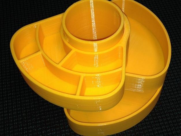 办公用品收纳盒模型 3D模型  图6
