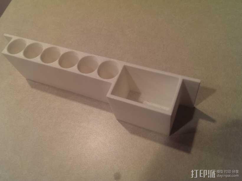 参数化白板笔固定架模型 3D模型  图4