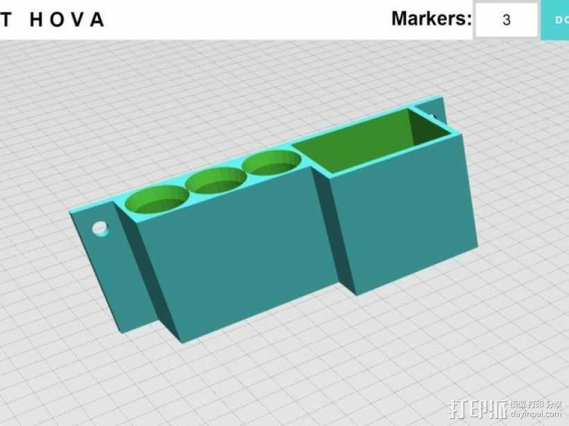 参数化白板笔固定架模型 3D模型  图5
