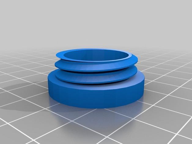 螺旋形收纳盒模型 3D模型  图2